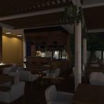 Port_Ustronie_Restauracja_na_gˇrze_wieczorem